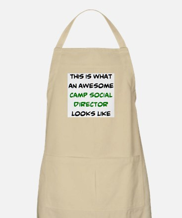 awesome camp social director Apron