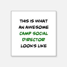 "awesome camp social directo Square Sticker 3"" x 3"""