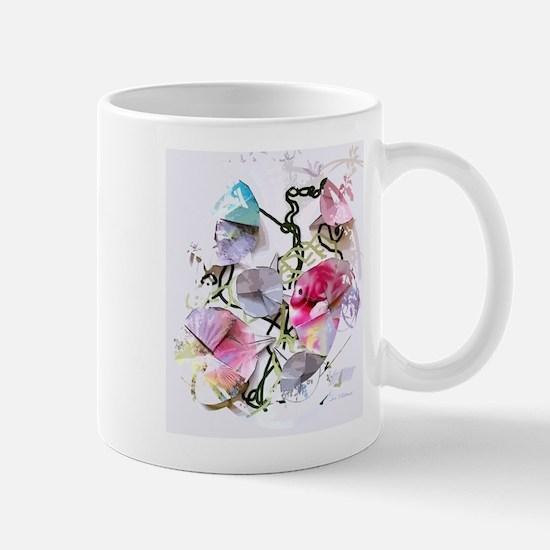 Origami Morning Glories Mugs