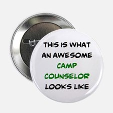 "awesome camp counselor 2.25"" Button"
