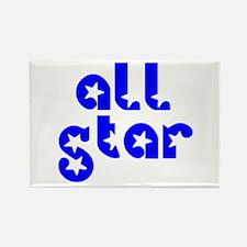 all star Rectangle Magnet
