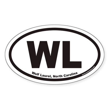 Wolf Laurel North Carolina Wl Euro Oval Decal By Ovalstickers