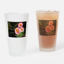 Get Well Soon Pink Flowers Drinking Glass