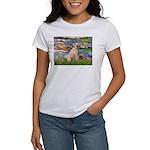 Lilies2/Greyhound (f) Women's T-Shirt