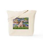 Lilies2/Greyhound (f) Tote Bag