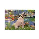 Lilies2/Greyhound (f) Rectangle Magnet (10 pack)
