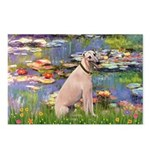 Lilies2/Greyhound (f) Postcards (Package of 8)