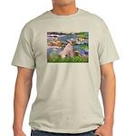 Lilies2/Greyhound (f) Light T-Shirt