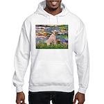 Lilies2/Greyhound (f) Hooded Sweatshirt