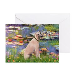 Lilies2/Greyhound (f) Greeting Cards (Pk of 10)