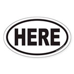 HERE Euro Oval Sticker