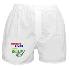 Rodolfo Lives for Golf - Boxer Shorts