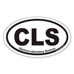 Clinical Laboratory Science CLS Euro Oval Decal