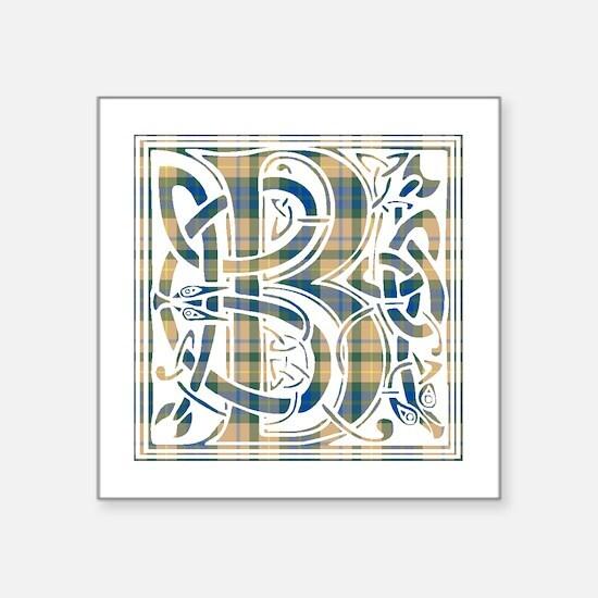 "Monogram-Buchanan hunting Square Sticker 3"" x 3"""