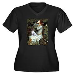 Ophelia / JRT Women's Plus Size V-Neck Dark T-Shir