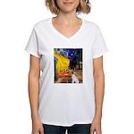 Cafe / JRT Women's V-Neck T-Shirt