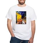 Cafe / JRT White T-Shirt