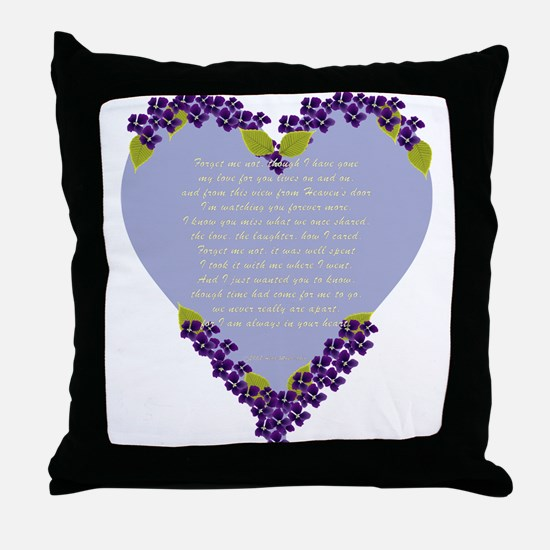 Forget Me Not Memorial Throw Pillow