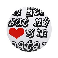 my heart is in Qatar Ornament (Round)
