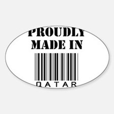 made in Qatar Oval Decal