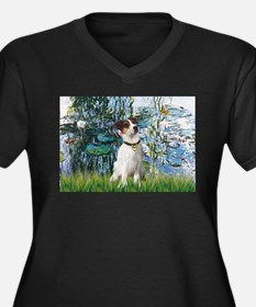 Lilies / JRT Women's Plus Size V-Neck Dark T-Shirt