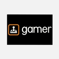 Gamer (Orange) Rectangle Magnet