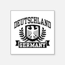 """Unique I love germany Square Sticker 3"""" x 3"""""""