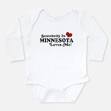 Cute I love someone autism Long Sleeve Infant Bodysuit
