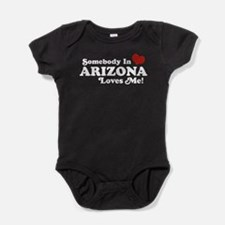 Cute State location Baby Bodysuit