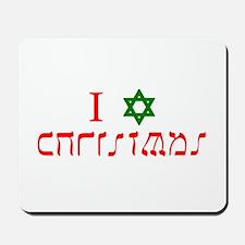 I Star Christmas Mousepad