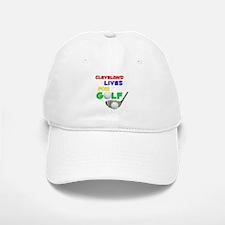 Cleveland Lives for Golf - Baseball Baseball Cap