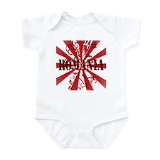 Romania red flanger Infant Bodysuit