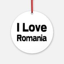 I love Romania Ornament (Round)