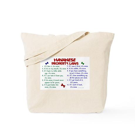 Havanese Property Laws 2 Tote Bag