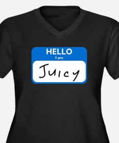 Juicy Women's Plus Size V-Neck Dark T-Shirt
