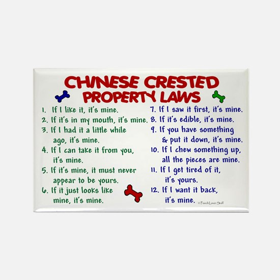 Chinese Crested Property Laws 2 Rectangle Magnet