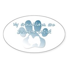 Japanese Chin Grandchildren Oval Decal