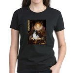 Queen/Japanese Chin Women's Dark T-Shirt
