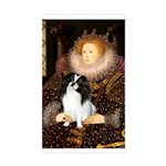 Queen/Japanese Chin Sticker (Rectangle)