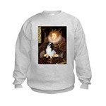 Queen/Japanese Chin Kids Sweatshirt