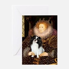 Queen/Japanese Chin Greeting Card