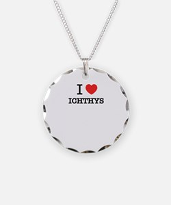 I Love ICHTHYS Necklace Circle Charm
