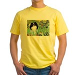 Irises/Japanese Chin Yellow T-Shirt
