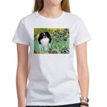 Irises/Japanese Chin Women's T-Shirt