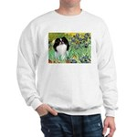 Irises/Japanese Chin Sweatshirt
