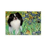 Irises/Japanese Chin Rectangle Magnet