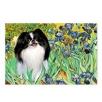 Irises/Japanese Chin Postcards (Package of 8)