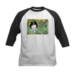 Irises/Japanese Chin Kids Baseball Jersey