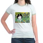 Irises/Japanese Chin Jr. Ringer T-Shirt