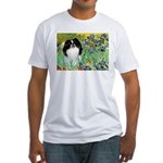 Irises/Japanese Chin Fitted T-Shirt